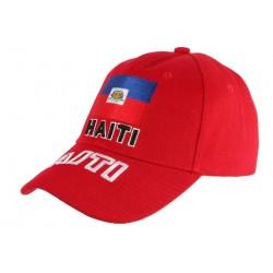 Casquette Haiti Rouge Baseball drapeau Haitien Mode Caraibes CASQUETTES PAYS