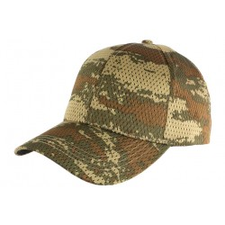 Casquette Militaire Verte Filet Baseball Camouflage Maky CASQUETTES Nyls Création