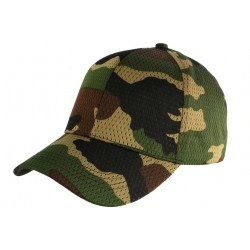 Casquette Militaire Kaki Filet Baseball Camouflage Maky CASQUETTES Nyls Création