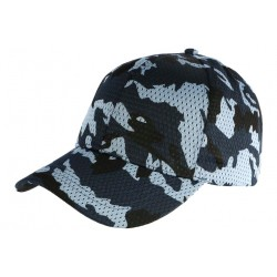 Casquette Militaire Bleu Filet Baseball Camouflage Maky CASQUETTES Nyls Création