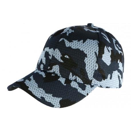 b0237ac40ea5a Nouveau Casquette Militaire Bleu Filet Baseball Camouflage Maky CASQUETTES  Nyls Création