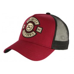 Casquette Von Dutch Rouge California 2992 Biker Trucker Baseball CASQUETTES VON DUTCH