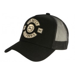 Casquette Von Dutch Noire California 2992 Biker Trucker Baseball CASQUETTES VON DUTCH