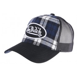 Casquette Von Dutch Noire Retro a Carreaux Baseball Card CASQUETTES VON DUTCH