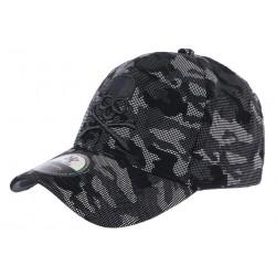 Casquette Baseball Militaire Noire et Grise Tete de Mort Kaft CASQUETTES Hip Hop Honour