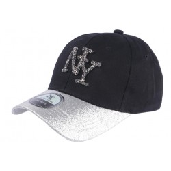 Casquette NY Femme Strass Gris Argent Baseball Noire Starly CASQUETTES Hip Hop Honour