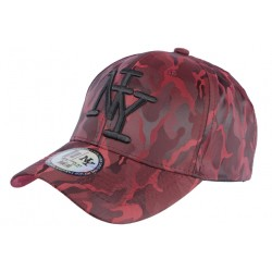 Casquette NY camouflage rouge Fashion Baseball Kaptain CASQUETTES Hip Hop Honour