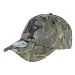 Casquette baseball militaire Verte Fashion Curve NY Kaptain CASQUETTES Hip Hop Honour