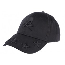Casquette Baseball Noire Tete de mort et Etoiles Fashion Streetwear CASQUETTES Hip Hop Honour