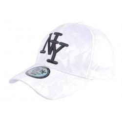 Casquette baseball militaire Blanche et Noire Curve NY Kaptain CASQUETTES Hip Hop Honour