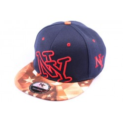 Casquette Snapback New York NY Bleue Marine et Bariolée style Urban Wear