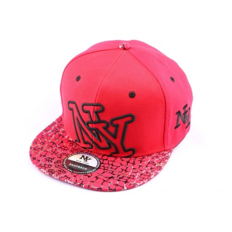 Casquette Snapback NY Rouge Serpent