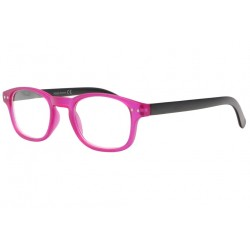 Lunettes Loupe Rose Fuchsia et Noires Rectangles Laky Lunettes Loupes New Time