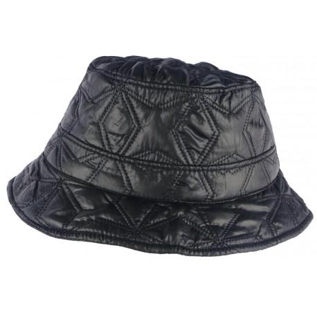 Chapeau de Pluie Femme Noir Reny Doublure Coton Nyls Création CHAPEAUX Nyls Création