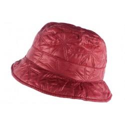 Chapeau de Pluie Femme Rouge Bordeaux Reny Doublure Coton Nyls Création CHAPEAUX Nyls Création