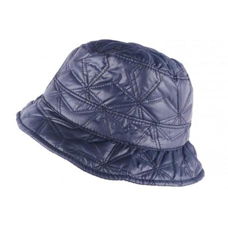 Chapeau de Pluie Femme Bleu Marine Reny Doublure Coton Nyls Création CHAPEAUX Nyls Création