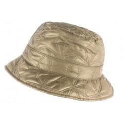 Chapeau de Pluie Femme Marron Clair Reny Doublure Coton Nyls Création CHAPEAUX Nyls Création