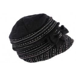 Chapeau Femme Hiver Noir Bonnet Toque en Laine Bouillie Celia CHAPEAUX Léon montane