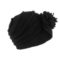 Chapeau Femme Hiver Noir Vintage Bonnet Beret Laine Bouillie Melia CHAPEAUX Léon montane