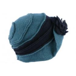Chapeau Femme Hiver Bleu Vintage Bonnet Beret Laine Bouillie Melia CHAPEAUX Léon montane
