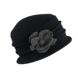 Chapeau Femme Laine Mode Beret Noir Cloche Hiver Retro Mialy CHAPEAUX Léon montane