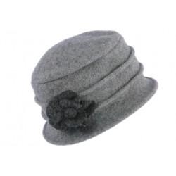 Chapeau Femme Laine Mode Beret Gris Cloche Hiver Retro Mialy CHAPEAUX Léon montane