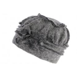 Bonnet Beret Femme Gris Chapeau Toque Laine Retro Milea CHAPEAUX Léon montane