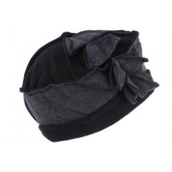 Bonnet Beret Femme Noir Chapeau Toque en Polaire fashion Lenya CHAPEAUX Léon montane