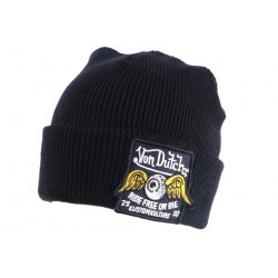 Bonnet Von Dutch Noir Forme Docker Laine Patch BONNETS VON DUTCH