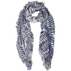 Carre Echarpe Bleu et Argent Fashion Foulard Hiver Chaud et Doux Nylson Echarpe Nyls Création