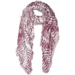 Carre Echarpe Rouge et Argent Fashion Foulard Hiver Chaud et Doux Nylson Echarpe Nyls Création