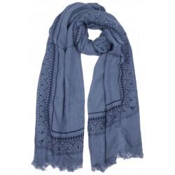 Echarpe Bleue Originale Tribal Foulard Hiver Chaud et Fashion Tytam Echarpe Nyls Création