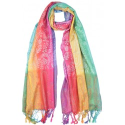 Grande Echarpe Pashmina Multicolore Foulard Hiver Fashion Poonch Echarpe Léon montane