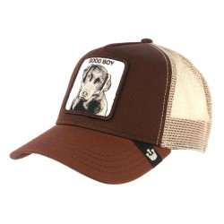 Casquette Goorin Marron Good Boy Chien Baseball Trucker Labrador CASQUETTES GOORIN BROS