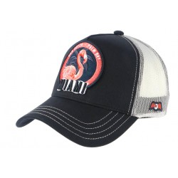 Casquette Von Dutch Bleu Flamand Rose Miami Trucker Baseball Fashion CASQUETTES VON DUTCH