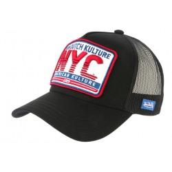 Casquette Von Dutch American Kulture Noire NYC Trucker Baseball CASQUETTES VON DUTCH