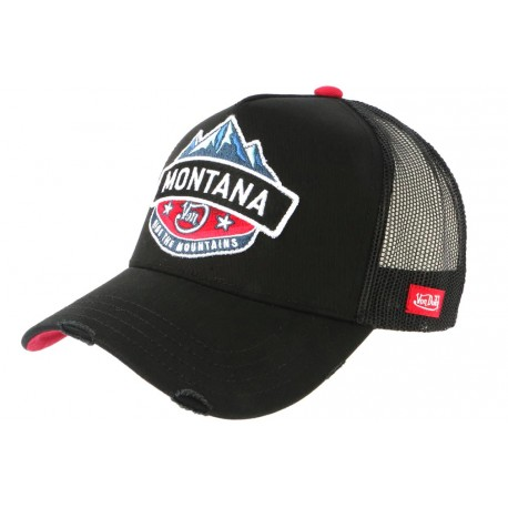 Casquette Von Dutch Montana Noire et Bleue Ride Moutains Trucker Baseball CASQUETTES VON DUTCH