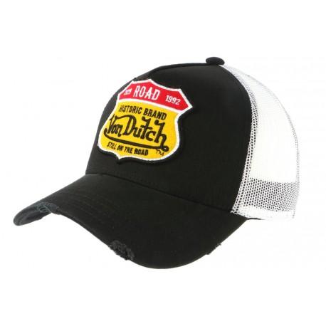 Casquette Von Dutch Noire Road Historic Brand Trucker Baseball CASQUETTES VON DUTCH