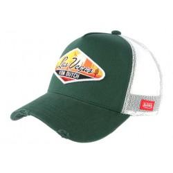 Casquette Von Dutch Verte Las Vegas Tendance Trucker Baseball CASQUETTES VON DUTCH