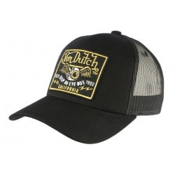Casquette Von Dutch Noir California Eye Out Baseball Trucker CASQUETTES VON DUTCH