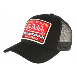 Casquette Von Dutch Noir California West Coast Baseball Trucker CASQUETTES VON DUTCH