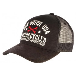 Casquette Von Dutch Noire USA Motorcycles Baseball Garn CASQUETTES VON DUTCH
