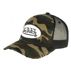 Casquette Von Dutch Camouflage Army Baseball Militaire CASQUETTES VON DUTCH