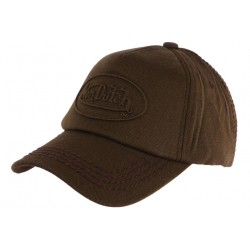 Casquette Von Dutch Marron Relief Vintage Baseball Custom CASQUETTES VON DUTCH