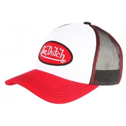 Casquette Von Dutch Rouge Top Blanc Colors Baseball Trucker Fashion CASQUETTES VON DUTCH