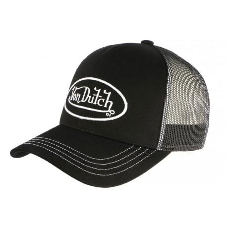 Casquette Von Dutch Noire et Blanche Colors Baseball Trucker Classe CASQUETTES VON DUTCH