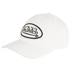 Casquette Von Dutch Blanche Logo Noir Colors Baseball Trucker Tendance CASQUETTES VON DUTCH