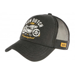 Casquette Von Dutch Grise Legendary Brand Baseball Trucker Crew CASQUETTES VON DUTCH