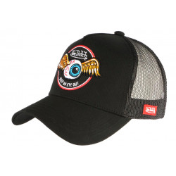 Casquette Von Dutch Noire Keep Eye Baseball Trucker Rag CASQUETTES VON DUTCH