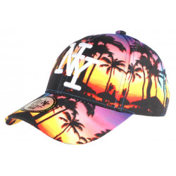 Casquette baseball bleu rose Beach Night Baseball NY CASQUETTES Hip Hop Honour